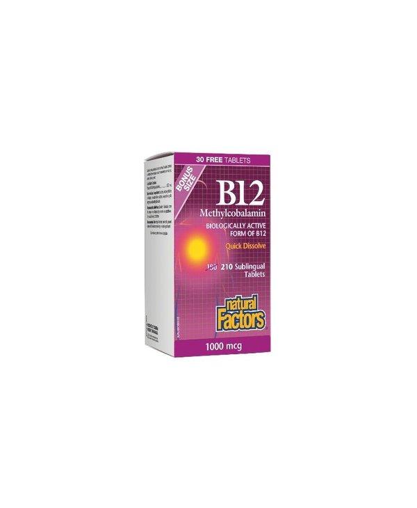 Natural Factors - B12 Methylcobalamin 1000 mcg - 210 tab