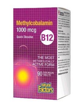 Natural Factors Natural Factors - B12 Methylcobalamin 1000 mcg - 90 Tabs