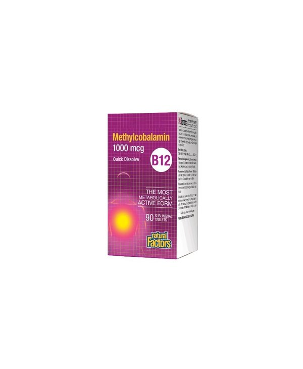 Natural Factors - B12 Methylcobalamin 1000 mcg - 90 Tabs