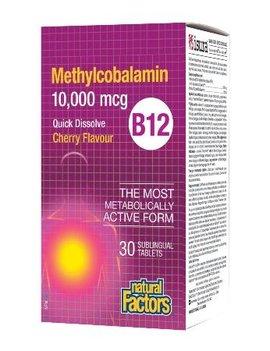 Natural Factors Natural Factors - B12 Methylcobalamin 10,000mcg - 30 Tabs