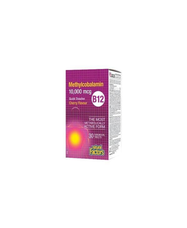 Natural Factors - B12 Methylcobalamin 10,000mcg - 30 Tabs