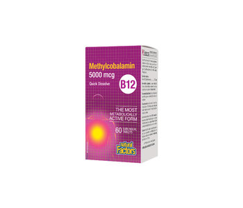 Natural Factors - B12 Methylcobalamin 5000 mcg - 60 Tabs
