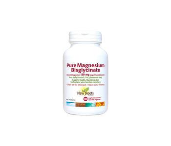 New Roots - Pure Magnesium Bisglycinate 130mg - 120 Vegi Caps