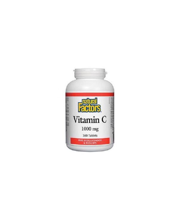 Natural Factors - Vitamin C 1000 mg Plus Bioflavonoids & Rosehips - 360 Tabs