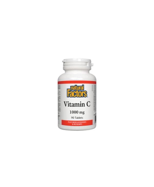 Natural Factors - Vitamin C 1000 mg Plus Bioflavonoids & Rosehips - 90 Tabs
