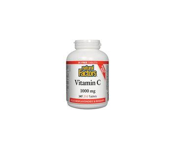 Natural Factors - Vitamin C 1000 mg Plus Bioflavonoids & Rosehips - 210 Tabs