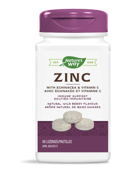 Nature's Way Nature's Way - Zinc With Echinacea & Vitamin C - 60 Lozenges