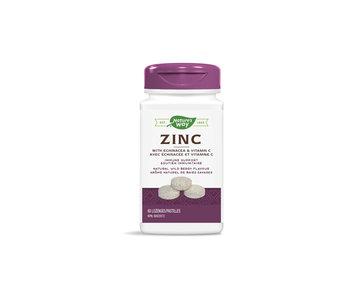 Nature's Way - Zinc With Echinacea & Vitamin C - 60 Lozenges