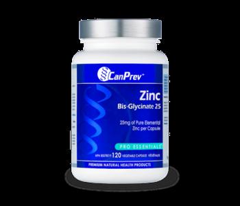 CanPrev - Zinc Bis-glycinate 25 - 120 V-Caps