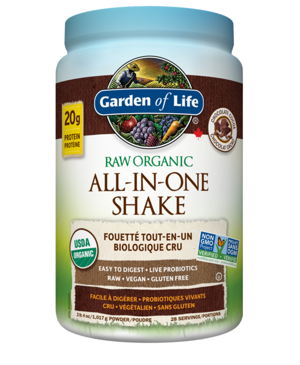Garden of Life - All-In-One Nutritional Shake - Chocolate - 1017g