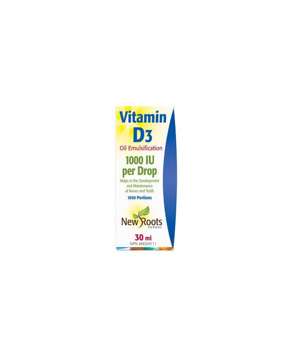 New Roots - Vitamin D3 1000 IU - 30ml