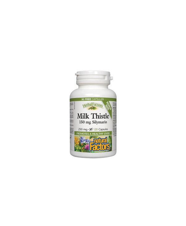 Natural Factors - Milk Thistle 150mg - 120 Caps Bonus Size