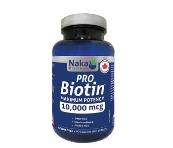 Naka - Platinum - Pro Biotin 10,000 mcg - 90 Caps Bonus Size