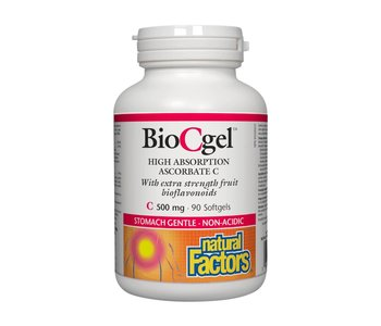 Natural Factors - BioCgel 500 mg - 90 Caps