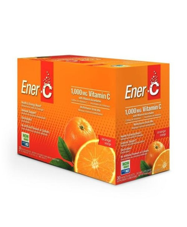 Ener-C - 1000 mg Vitamin C - Orange - Box of 30