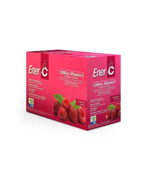 Ener-C - 1000 mg Vitamin C - Raspberry - Box of 30