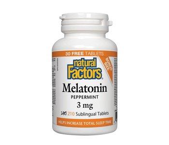 Natural Factors - Melatonin - Peppermint 3mg - 210 Sublingual