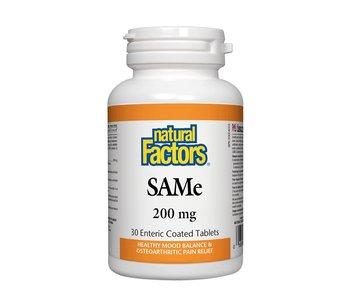 Natural Factors - SAMe 200mg - 30 Tabs