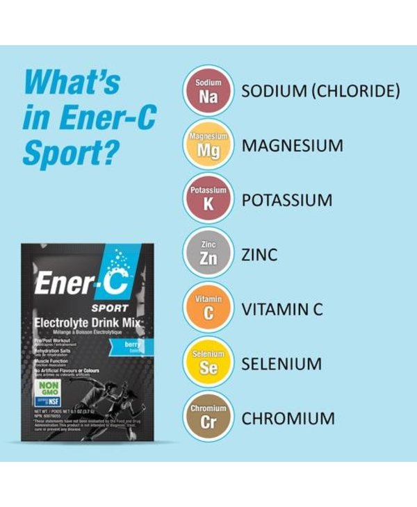Ener-C - Sport - Electrolyte Drink Mix - Mixed Berry - 154g