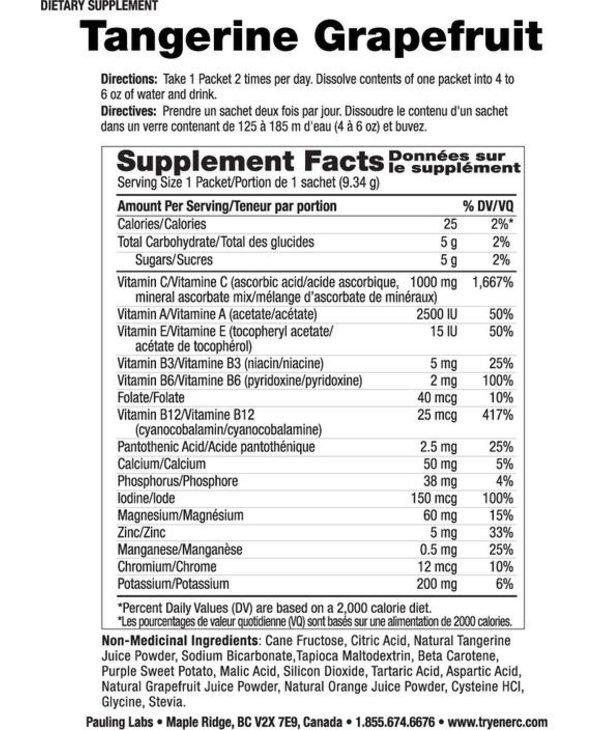 Ener-C - 1000 mg Vitamin C - Tangerine Grapefruit - Box of 30