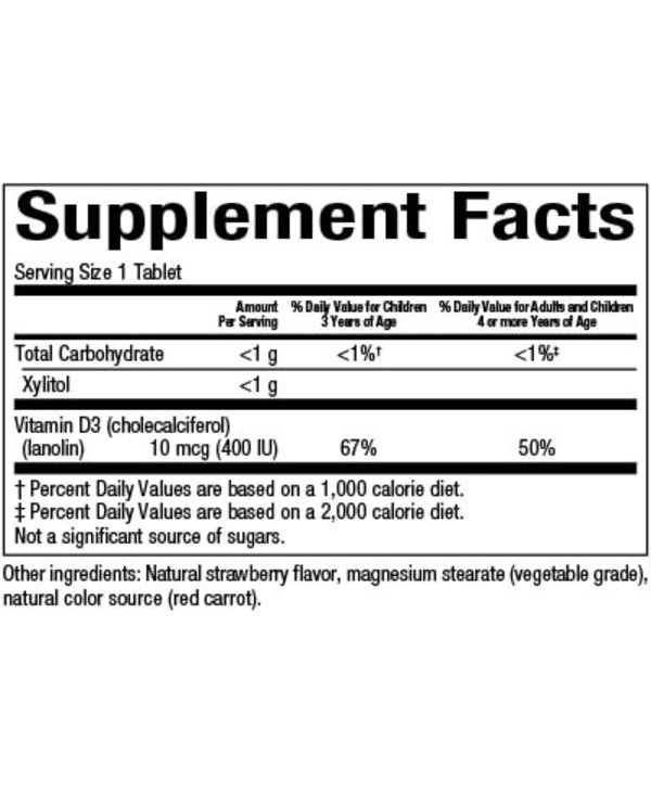 Natural Factors - Big Friends - Vitamin D3 400IU - Berry - 250 Chewable