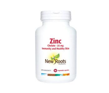 New Roots - Zinc Chelate 25mg - 90 Vegi Caps
