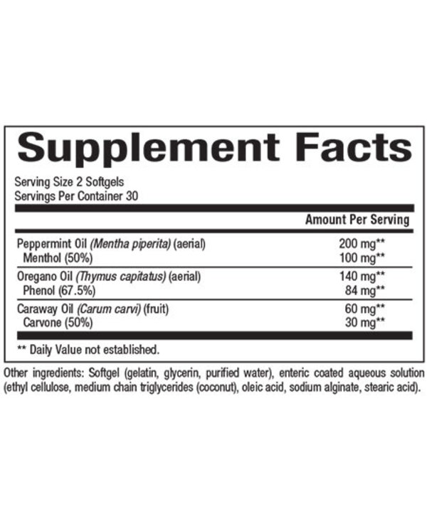 Natural Factors - Peppermint Oil Complex w/ Oregano Oil - 60 SG