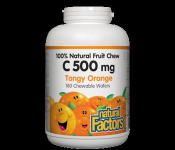 Natural Factors - Vitamin C 500 mg - Tangy Orange - 180 Chewable