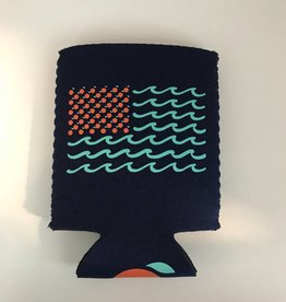 The Orange Beach Store Flag Koozie