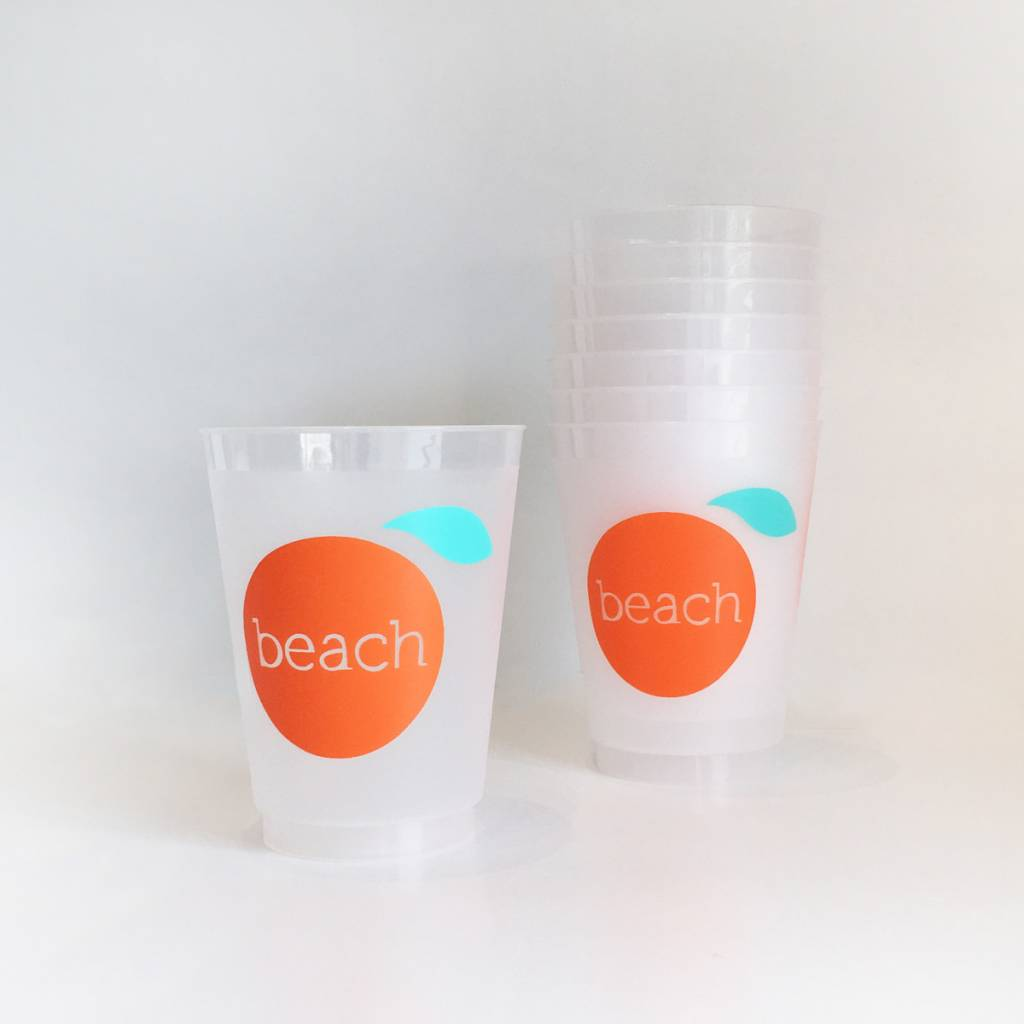 The Orange Beach Store 16 oz Frost Flex Cups/8 count