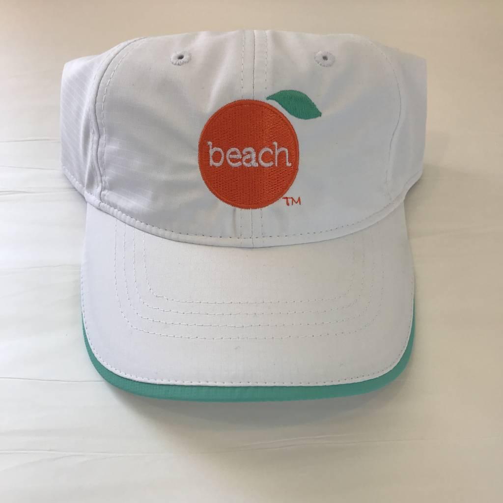 The Orange Beach Store Ladies Performance Cap White/Celadon