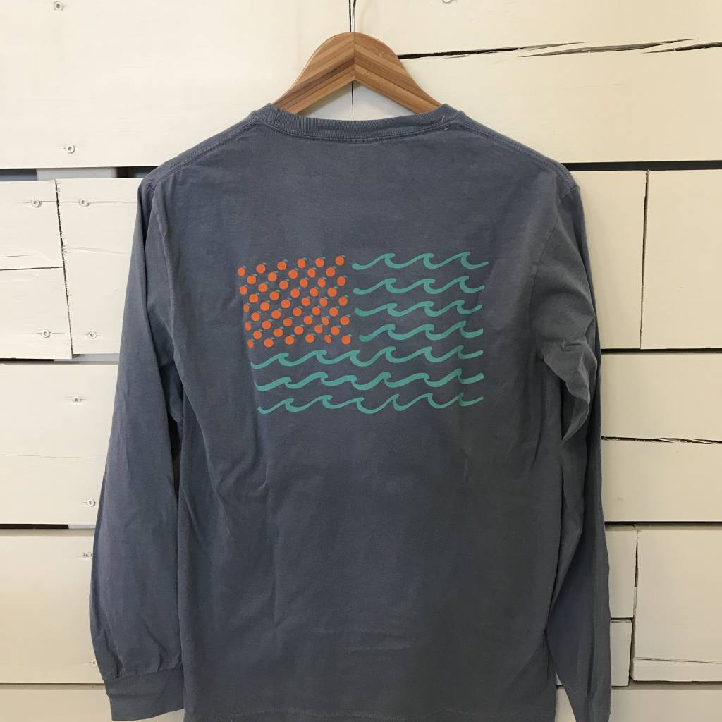 Long Sleeve Flag Tee