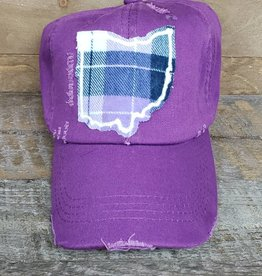OHIO HAT BASEBALL PURPLE