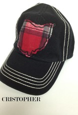 OHIO HAT BLACK STITCH BALL CAP