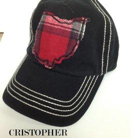 OHIO HAT BLACK STITCH BALL CAP