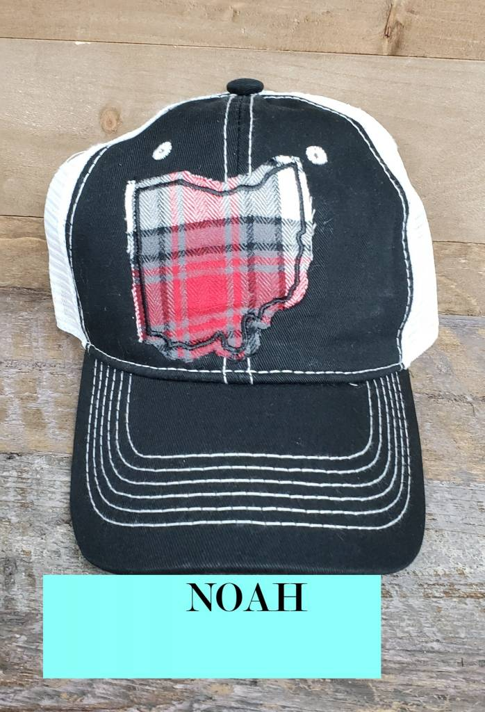 OHIO HAT BLACK/WHITE TRUCKER