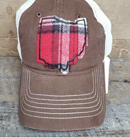 OHIO HAT TRUCKER BROWN