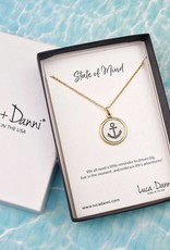 Stay Anchored Necklace Gold