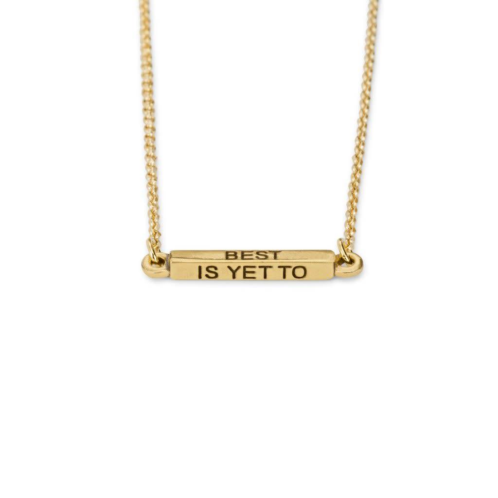 The Best is Yet to Come Necklace Brass