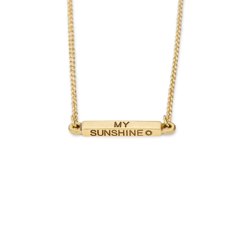 Affirmations You are my sunshine Necklace Gold