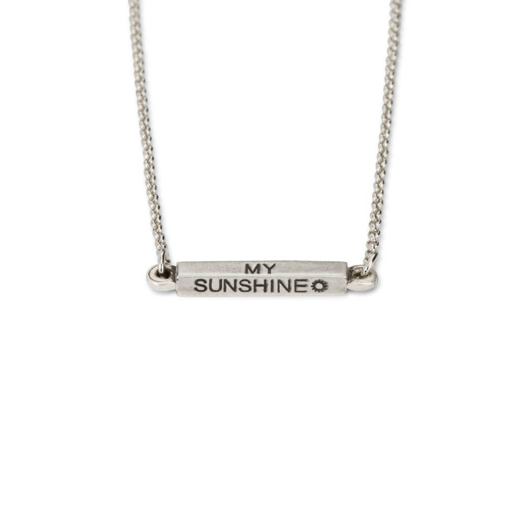 Affirmations You Are My Sunshine Necklace Silver