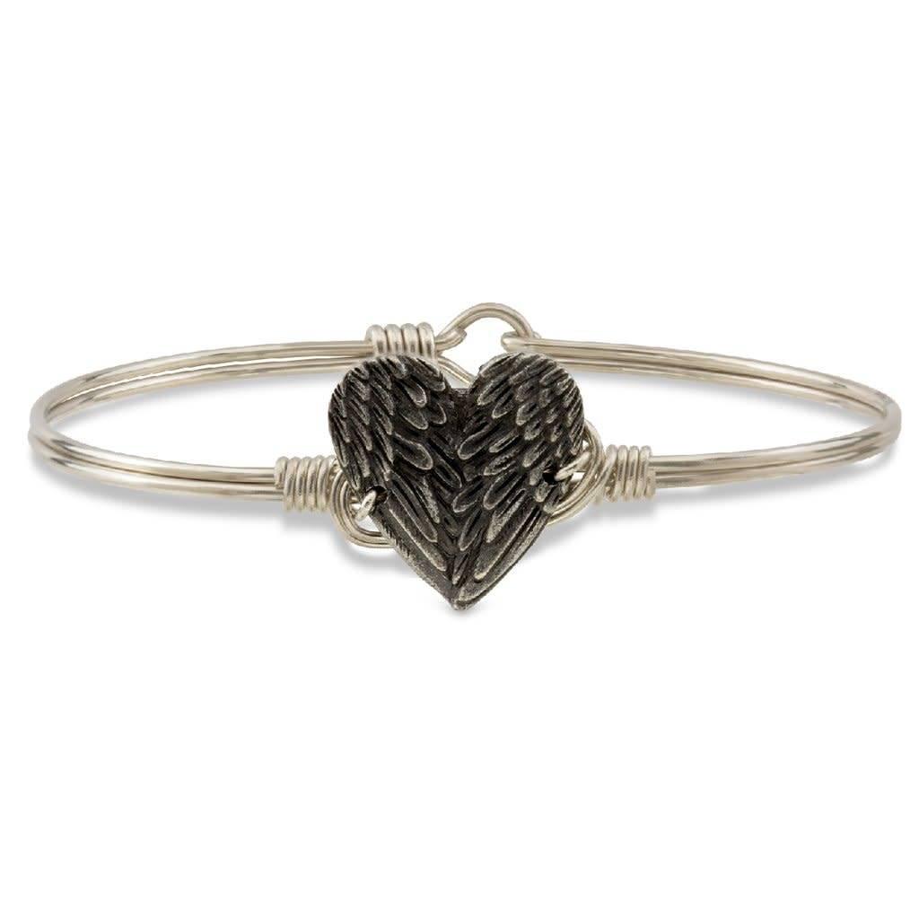 Angel Wing Heart on Silver