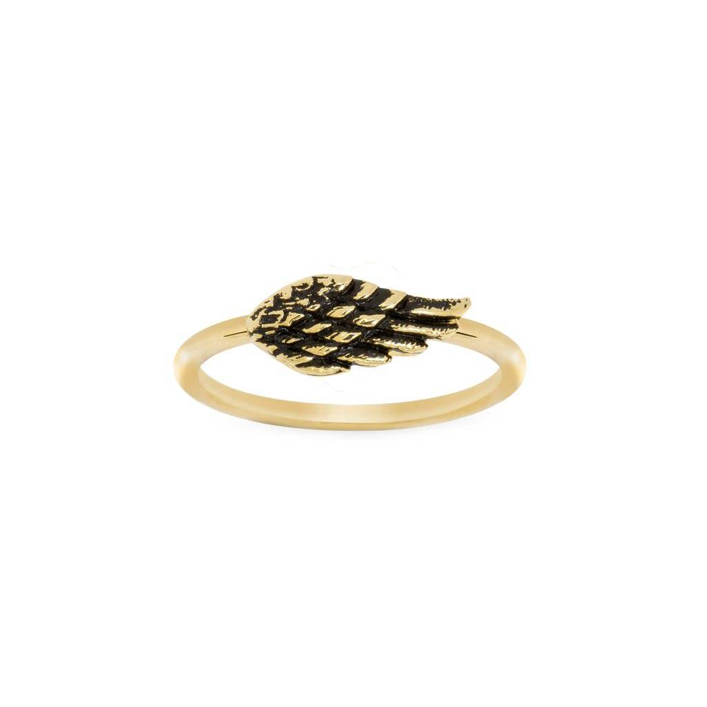 Angel Wing Ring- Gold