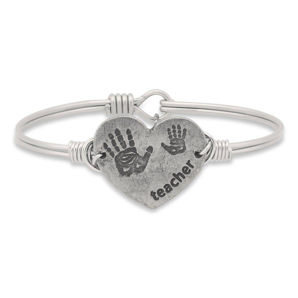 Teacher Bangle Silver Plated