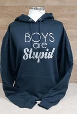 Boys are Stupid Black Sweatshirt