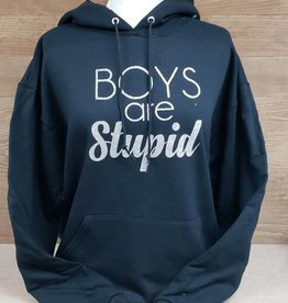 Boys are Stupid Black Sweatshirt