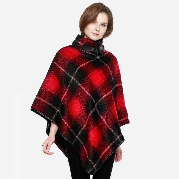 BUCKLE COLLAR PONCHO