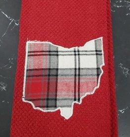 Noah Red Ohio Towel