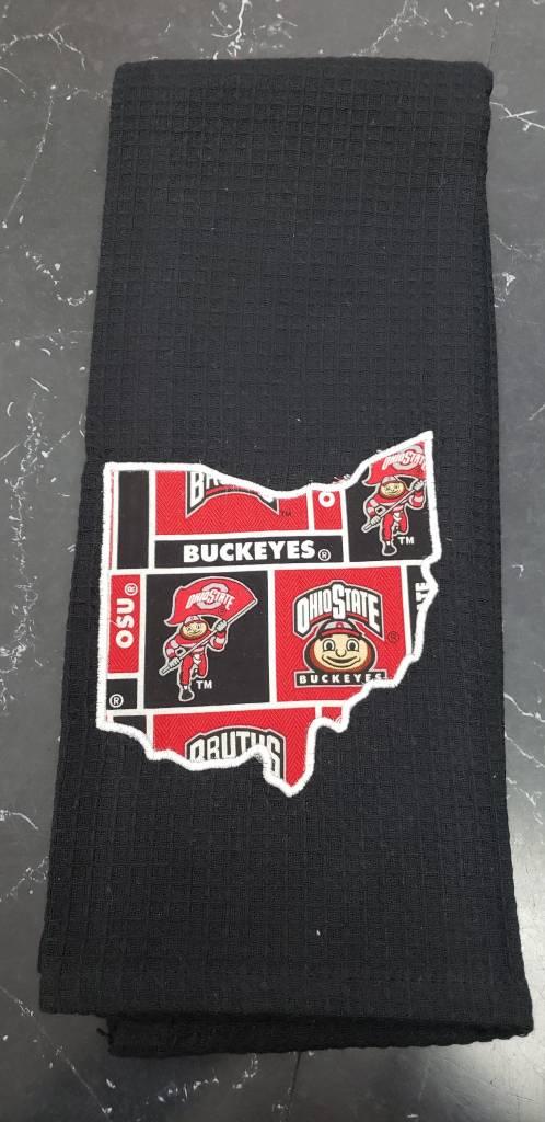Buckeye Black Ohio Towel
