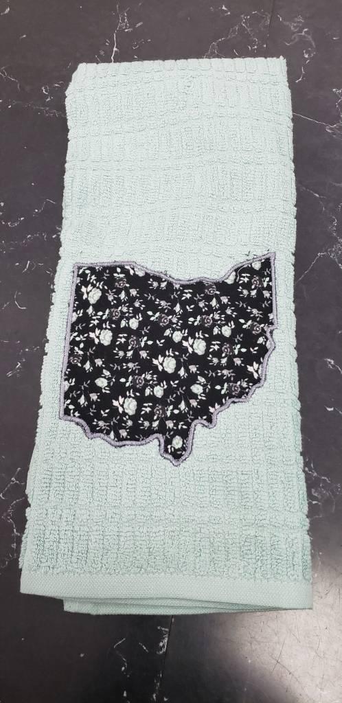 Diane Teal Ohio Towel